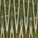 Mystic Green Abstract by donnagrayson