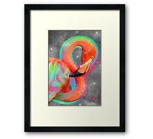 Infinite Possibilities - (Neon Infinity Flamingo) Framed Print