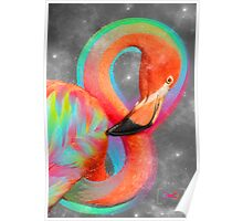 Infinite Possibilities - (Neon Infinity Flamingo) Poster