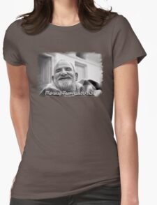 Maharaji Neem Karoli Baba Womens Fitted T-Shirt