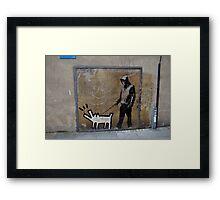 Banksy Himself?? Framed Print