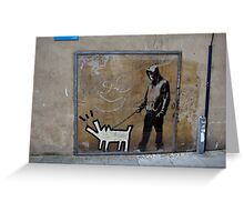 Banksy Himself?? Greeting Card