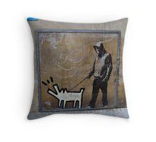 Banksy Himself?? Throw Pillow
