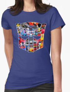 TRANSFORMERS FIGURES!!! Generation 1 Autobot Logo  Womens Fitted T-Shirt