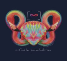 Infinite Possibilities - (Neon Infinity Flamingo) One Piece - Short Sleeve