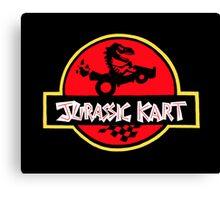 Jurassic Kart Canvas Print