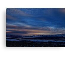 Feburary sunset Winnemucca nv Canvas Print