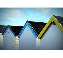 Beach Huts - Goring by Sea Photographic Print