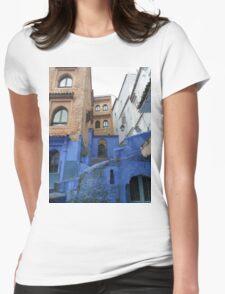 Atlas Travel 2 Desert Caravan 2 village T shirt Womens Fitted T-Shirt