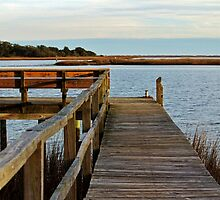 Wooden Pier And Bench by Cynthia48