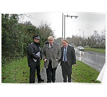 Boris Johnson by a ANPR camera in Orpington Poster