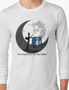 The Persistence of Timey Wimey Clean Long Sleeve T-Shirt