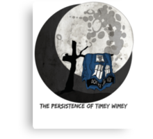 The Persistence of Timey Wimey Grunge Canvas Print