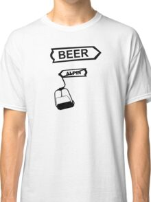 apres ski, ski, party, winter, snowboard,ride,hut Classic T-Shirt