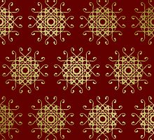 Red And Gold Pattern Case by thepixelgarden
