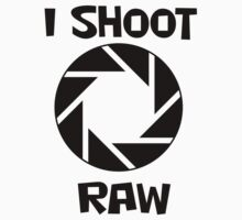 I shoot RAW photographer T-shirt by Zak-Karle