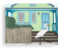 Great Egret House Canvas Print