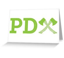 PD Axe Stand Alone Greeting Card
