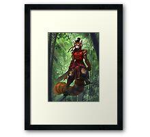 Bamboo Warrior Framed Print