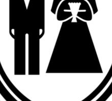 wedding couple Sticker