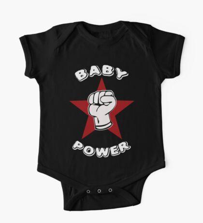 Baby Power Onesie One Piece - Short Sleeve