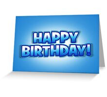 Blue Sky Happy Birthday Greetings Card Greeting Card