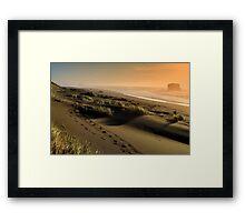 Footsteps upon the Oregon Gold Coast Framed Print