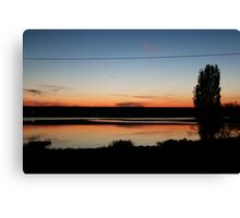 river in dusk. Canvas Print