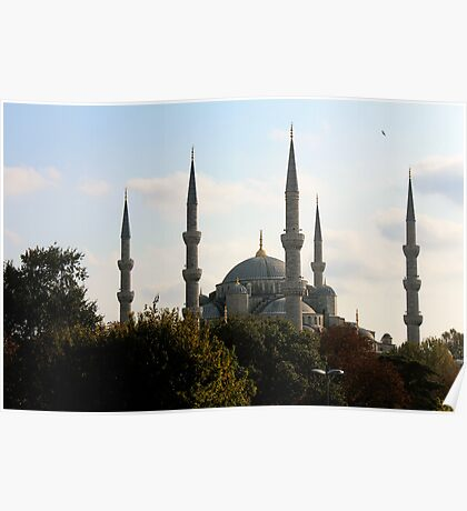 the blue mosque. Poster