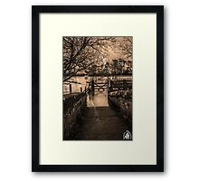 Footpath closed  Framed Print