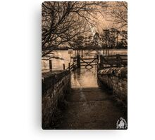 Footpath closed  Canvas Print