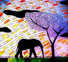 Lone Elephant by cutler17