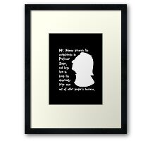 Snape's Abnormally Large Nose Framed Print