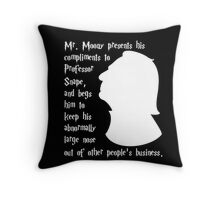 Snape's Abnormally Large Nose Throw Pillow