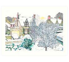 Snow scene number 2 Art Print