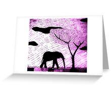 lone Elephant Greeting Card