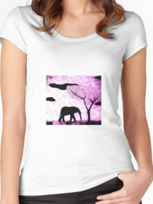 lone Elephant Women's Fitted Scoop T-Shirt