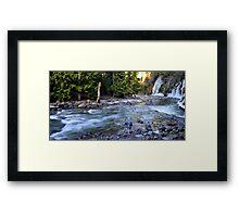 Winter Cascades Cascades Framed Print