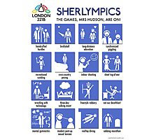 Sherlympics (print or poster) Photographic Print