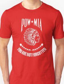 POW-MIA-NA  (White Lettering) T-Shirt