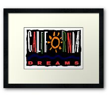 California Dreams - TV Show Framed Print