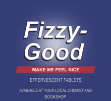 Fizzy Good make feel good T-shirt - Black books by icemanire