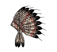 Native American Headdress by crookedwonder