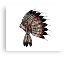 Native American Headdress Canvas Print