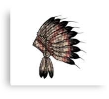 Native American Headdress Canvas Print