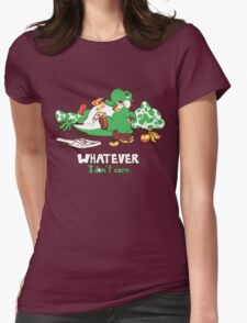 Whatever I don't Care Yoshi Womens Fitted T-Shirt