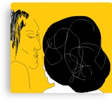 The Conversation/Version II -(110214)- Digital Artwork/MS Paint Canvas Print