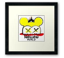 Hollow World Logo  Framed Print