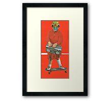 Space Skate Framed Print