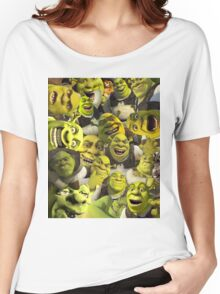 Shrek Collage  Women's Relaxed Fit T-Shirt